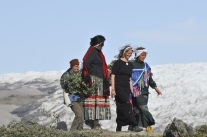 With women in Greenland