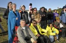 Savjey, Mohan Rai and Maili Lama at Ceremony in Greenland